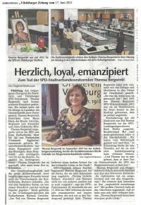 Zum Tod der SPD-Stadtverbandsvorsitzenden Theresa Bergwinkl