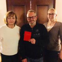 Ortsvorsitzende Theresa Bergwinkl, Karsten Neumann und Sibylle Entwistle